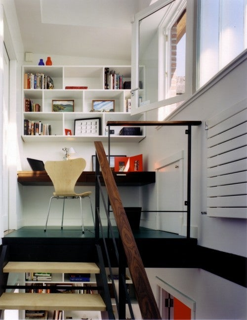 The Workspace at The Top of The Stairs