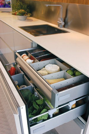 Norcool Fridge Hides Food in Cold Drawers