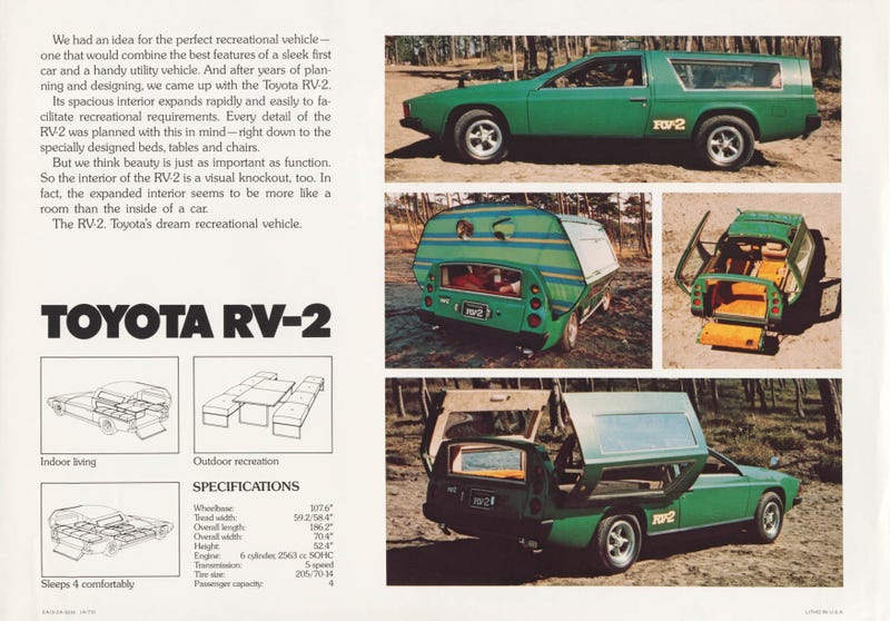 The Toyota RV-2... only in the seventies