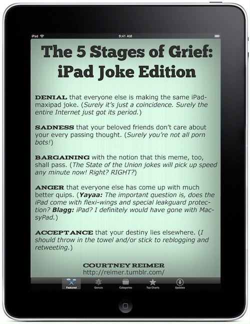 Will Period Jokes Hurt The iPad?