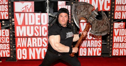 Jack Black Cosplays at Video Music Awards
