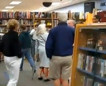Little Old Lady with a Cane Tries to Arrest Karl Rove