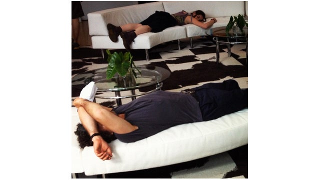 Shhh! Mark Ruffalo Is Sleeping