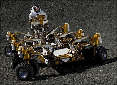 NASA Lunar Chariot Tested by NYT Earthling (Verdict: Best Rims in Outer Space)