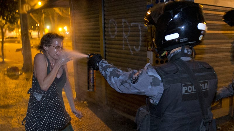 Ten Iconic Photos and a Shocking Video of Brazil's Explosive Protests
