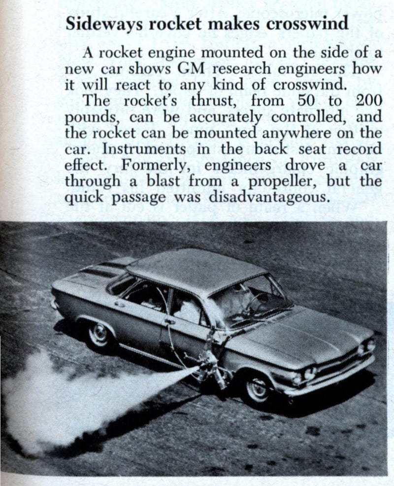 GM Strapped Rockets To Cars For Testing And Probably Fun