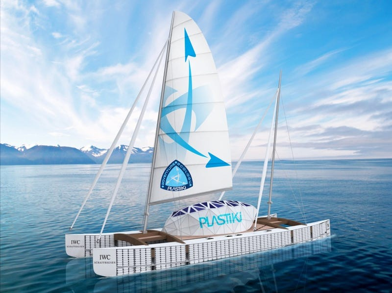 Boat Made From Plastic PET Bottles To Sail on 11,000 Mile Ocean Voyage