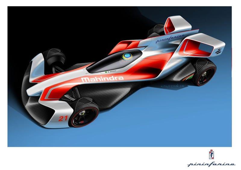 Los nuevos autos de Fórmula E diseñados por Pininfarina y Mahindra parecen naves del futuro