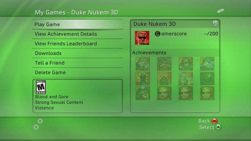 Leaked Screens Of Duke Nukem 3D XBLA