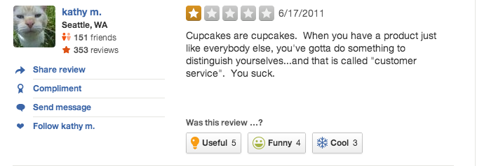 More of the Dumbest Reviews on Yelp
