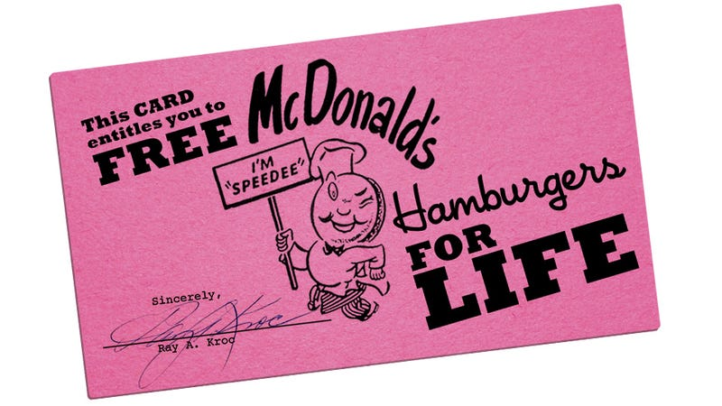 Seven Ways of Looking at the News That Mitt Romney's Dad Got Free McDonald's For Life