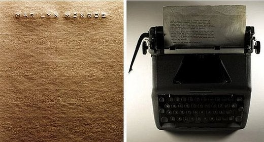 Marilyn Monroe's Typewriter: Used By One of the Great Minds of the 20th Century