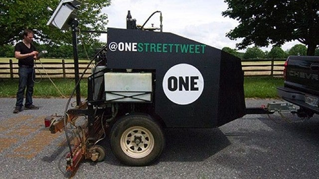 This Twitter-Powered Road-Painting Printer Wants to Hear From You!