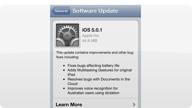 iOS 5.0.1 Is Here To Fix Your Battery Issues