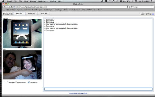 """Experiment #1 Is Over Now"" for Chatroulette"