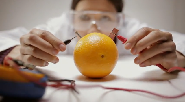 How Many Oranges Does It Take to Power a Neon Billboard?