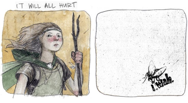 It Will All Hurt is like a stream-of-consciousness Adventure Time
