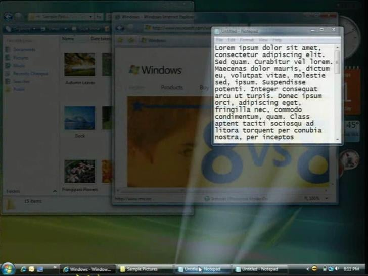 Discarded Windows 7 Concepts Show Batman-esque Taskbar Preview
