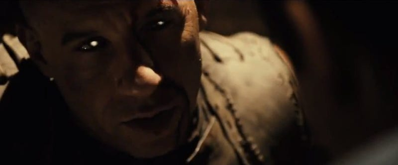 Hot Damn! Riddick's back, and he's still scarier than a gang of monsters