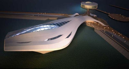 Starship-Like Exhibition Space Will Float Around Asia in 2012