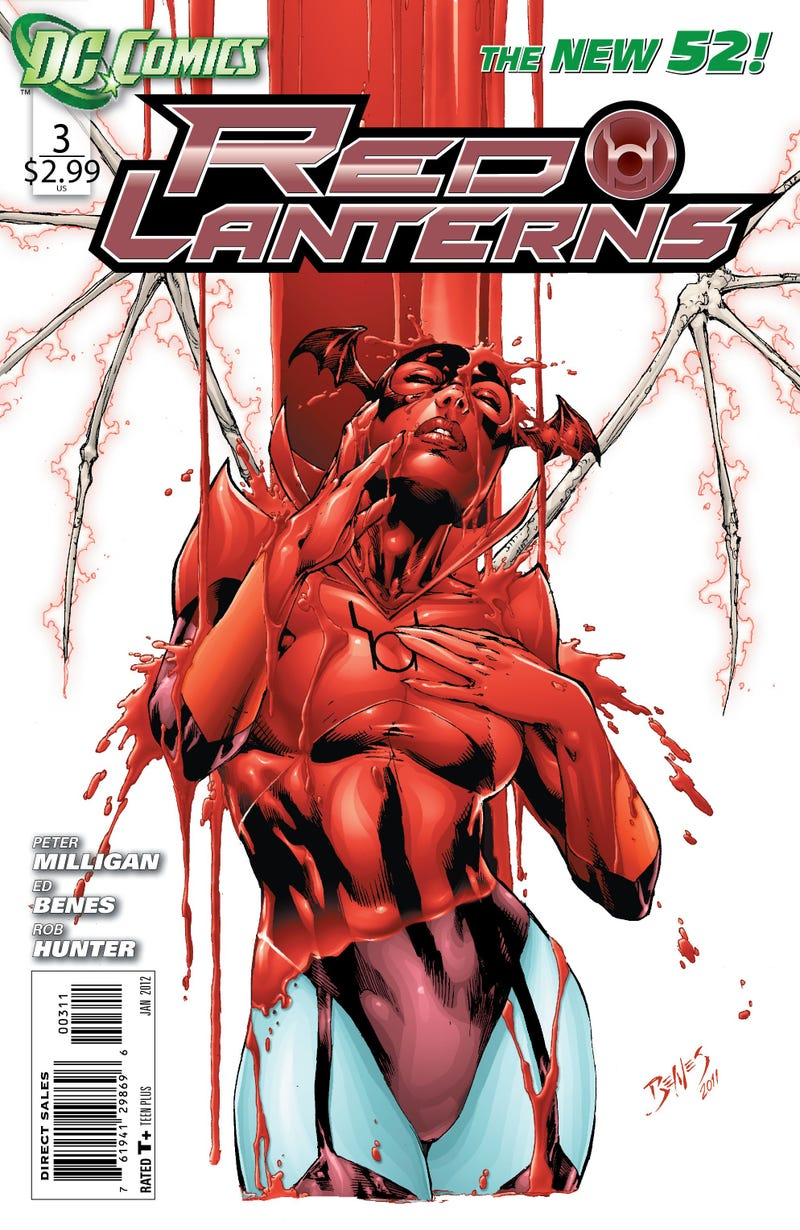 Read an exclusive preview of Red Lanterns, starring the Green Lanterns' blood-vomiting rivals!
