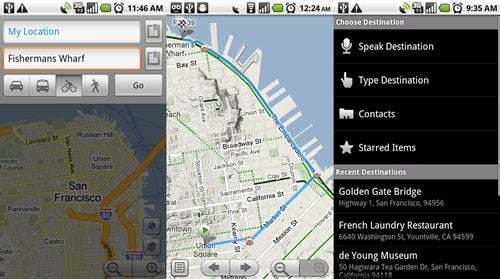 Google Maps for Android Gets Biking Directions, Navigation Shortcuts and Location Sharing