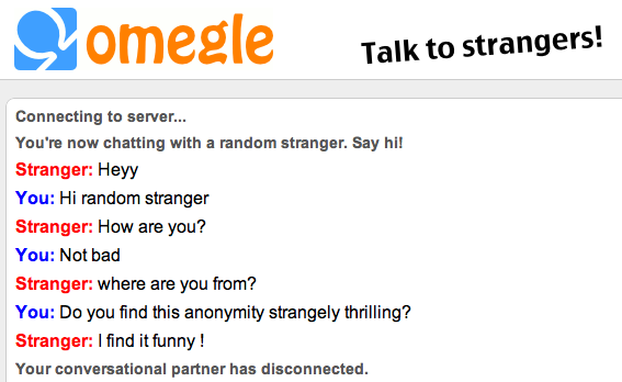 Omegle! This Teenager Wants You to Chat with a Stranger