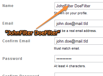 "Use ""NameFilter"" as a Newsletter Spam Catcher"