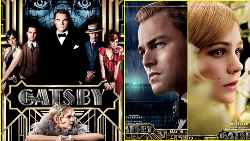 New Gatsby Posters Show Leo and Carey in Art Deco Heaven