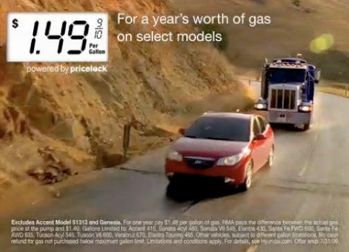 Hyundai Assurance Gas Lock: Buy A New Car, Get One Year Of $1.49 Gas