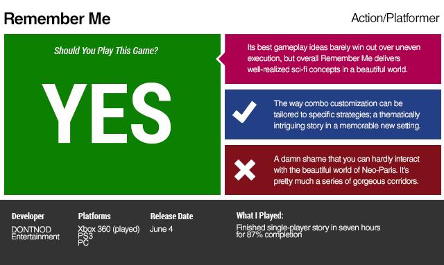 Remember Me: The Kotaku Review