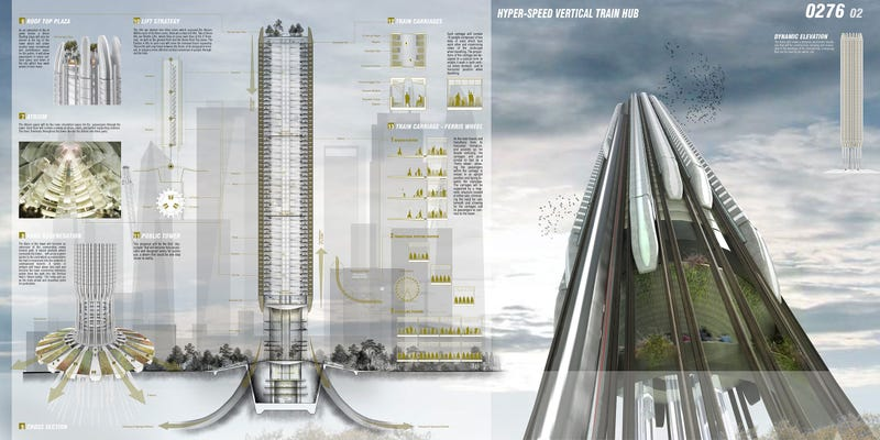 I hope they build this vertical train station one day