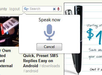 Voice Search for Chrome Searches and Fills Input Boxes with Your Voice