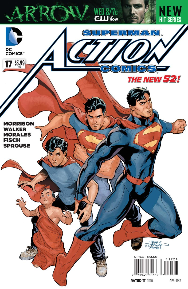 An exclusive preview of Grant Morison's penultimate issue of Action Comics!