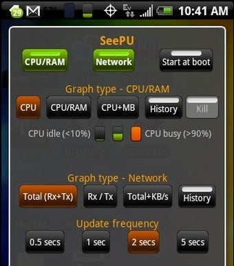 SeePU Monitors Android CPU, Memory, and Network Utilization