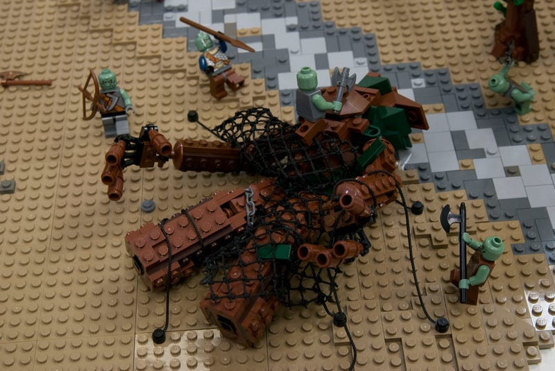 The Battle of Isengard from Lord of the Rings, depicted in 22,000 LEGO bricks