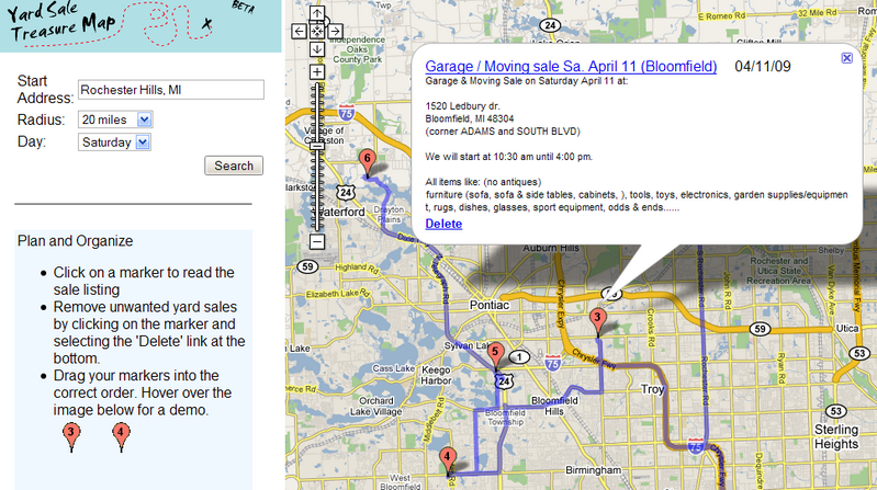 Yard Sale Treasure Map Plots Out Your Weekend Plundering