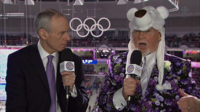 Don Cherry Is Currently Wearing A Bear On His Head