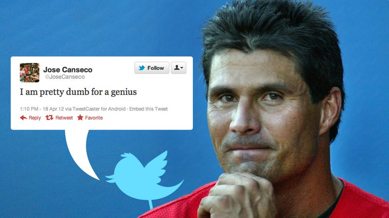 Did Jose Canseco Admit to Not Writing His Brilliant Tweets?