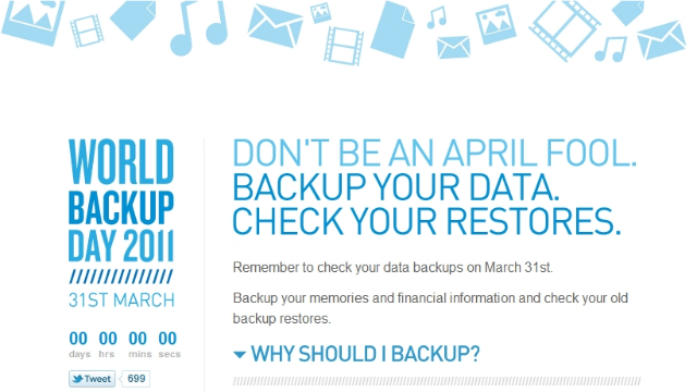 It's World Backup Day: Here's How to Avoid Inevitable Disasters