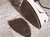 How to remove carpet impressions