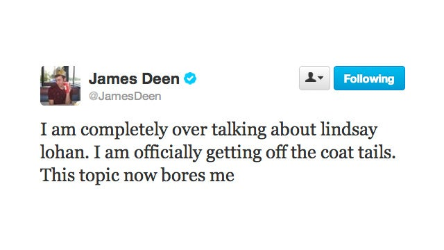 James Deen Is Officially Over Talking About Lindsay Lohan