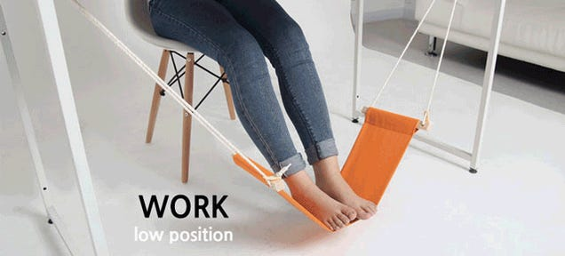 An Under-Desk Hammock For Your Feet Is the Best Office Upgrade