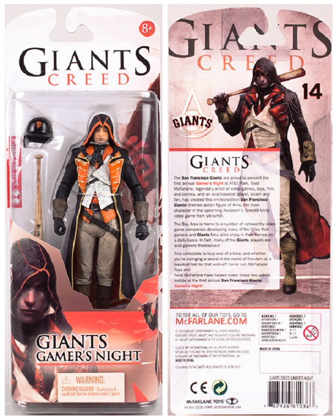 Get A San Francisco Giants-Themed Assassin's Creed Action Figure
