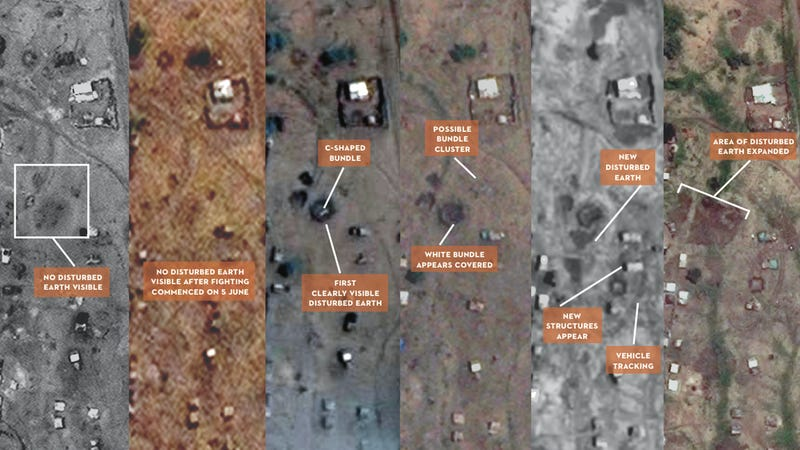 Satellite Photos Offer Evidence of Freshly Dug Mass Graves in Sudan