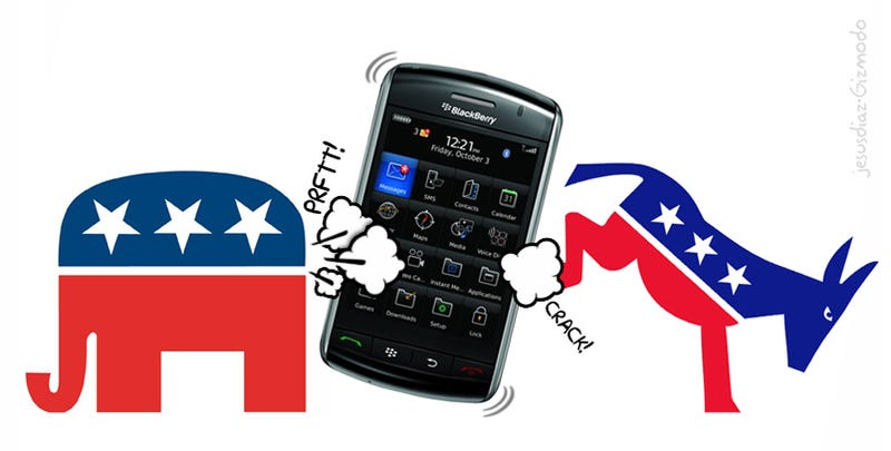 Washington Whining Politicians Smash BlackBerry Storm