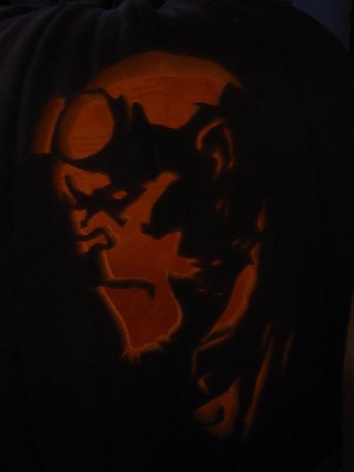 Hellboy Pumpkin