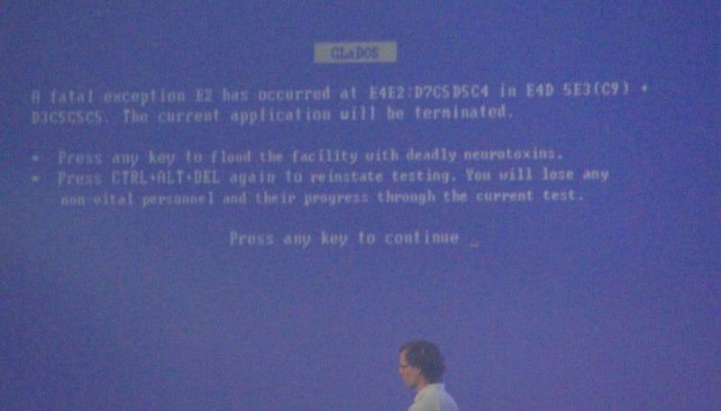 Portal 2 Hijacks Blue Screen of Death At GDC Awards
