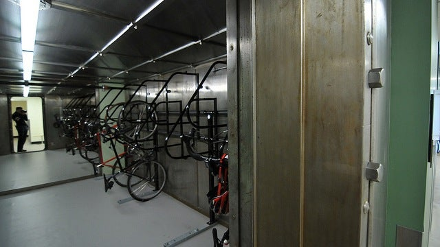 If You're Worried About Getting Your Bike Stolen, Park It Inside This Bank Vault