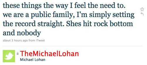 Michael Lohan Takes His Crusade To Save Lindsay To Twitter